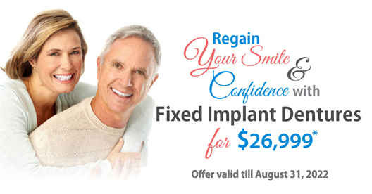 Fixed Implant Dentures for $16,999* at Implants Guru
