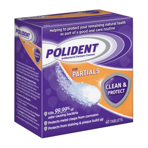 Polident - Antibacterial Denture Cleanser - For Partials