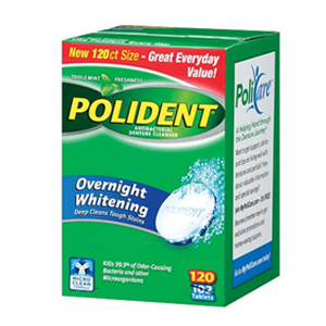 Polident - Antibacterial Denture Cleanser- Overnight whitening