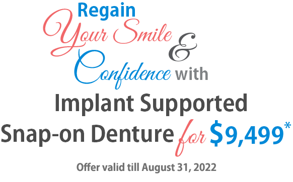 Implant Supported Snap-on Denture Offer